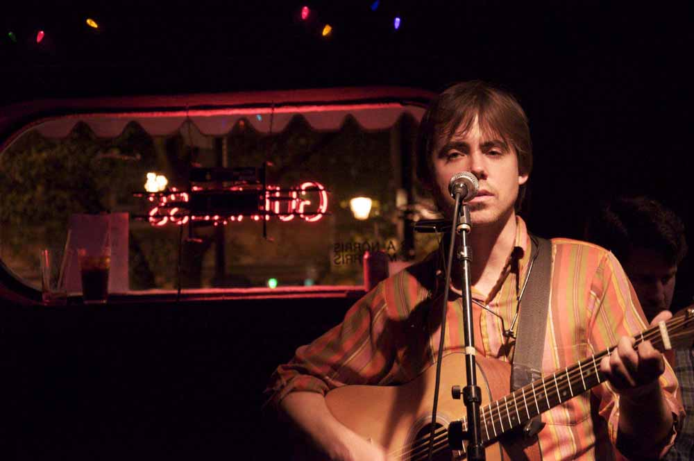Dave Huber performing at Bertha's in Fell's Point